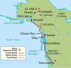Voyage Of The Glaciers Alaska Cruise Package 7 Days Alaskan